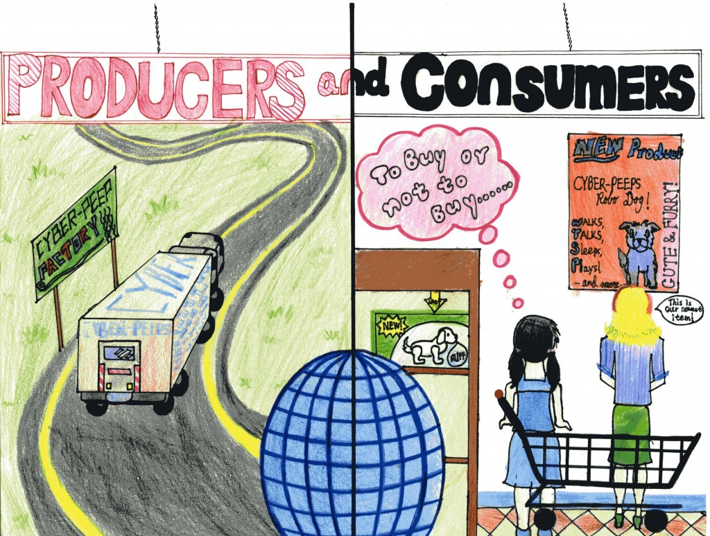 Yashi's Poster on Producers and Consumers